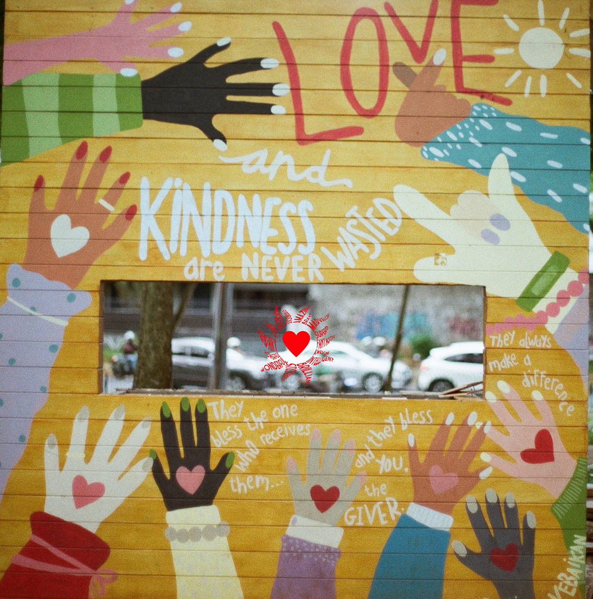 kindness never wasted - postcard project